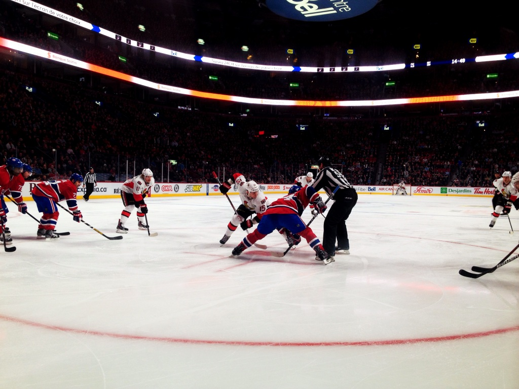 Face off on home ice.