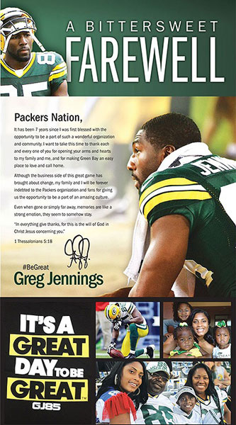 Greg Jennings Farewell