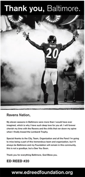 Ed Reed Baltimore Sun