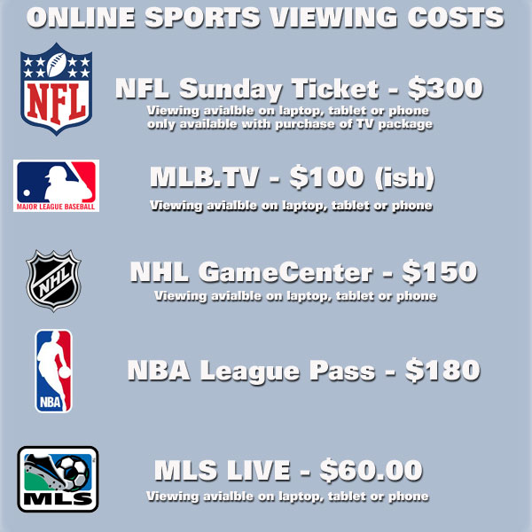 The Cost Of Viewing Sports Online