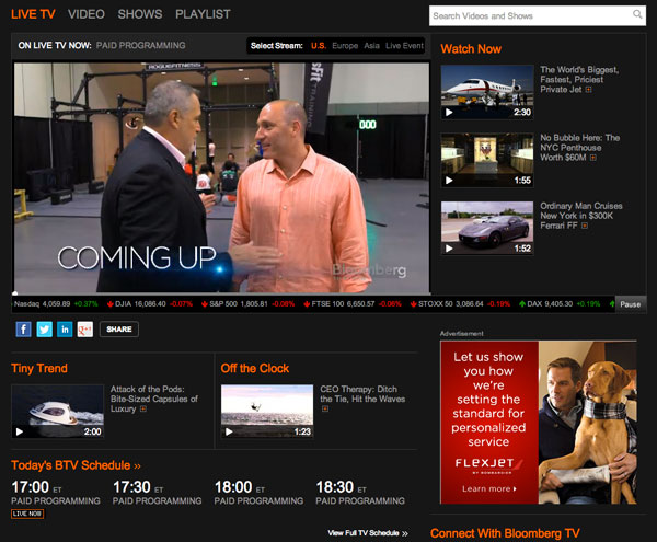Bloomberg Video Page