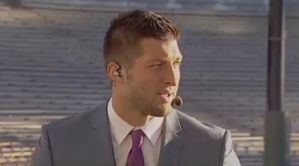 tebow on camera